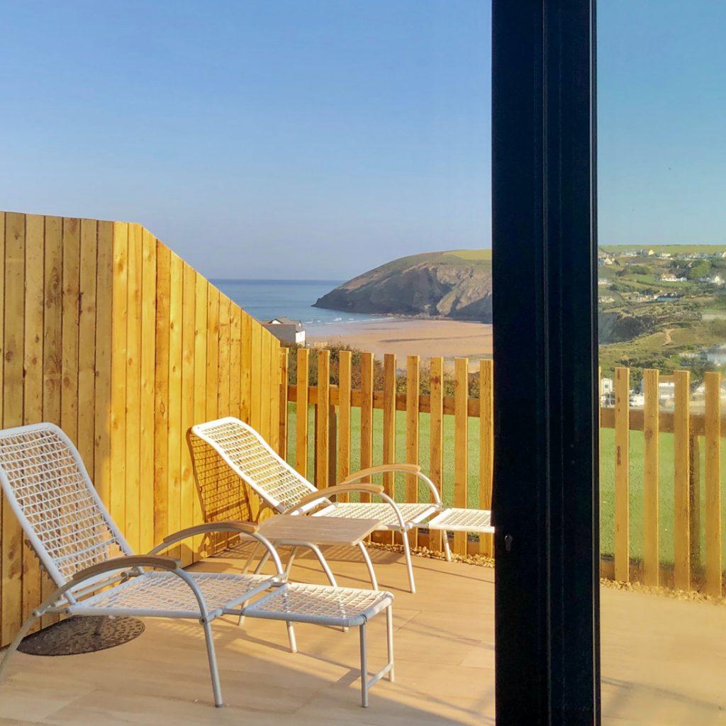 Balkon des Blauen Zimmers Seawhisper