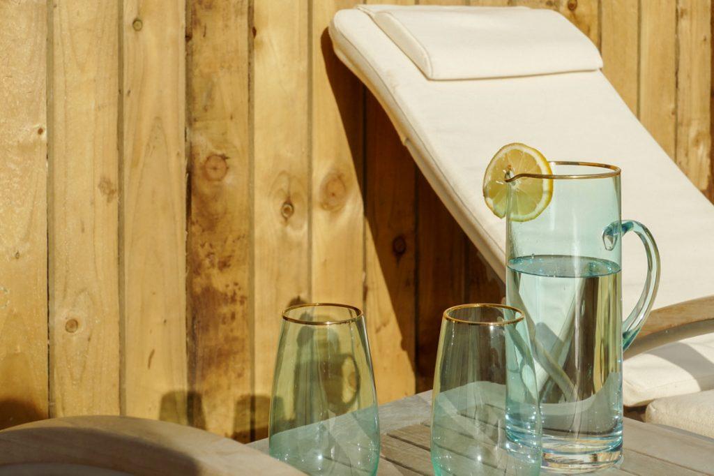 Entspannen auf der eigenen Terrasse im Seawhisper Cornwall