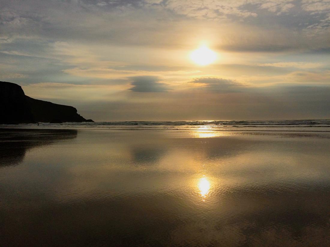 Stiller Atlantik in Cornwall